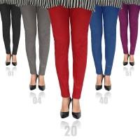 PANJANG POLOS SIZE S-STD (M-L) / Celana Legging 3R Bahan Katun - Cotton Stretch Pants