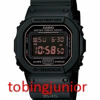 Jam Tangan Casio Original 100% G-Shock DW-5600MS-1 ALL BLACK