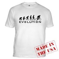 T-Shirt Evolution Bike [ white ]