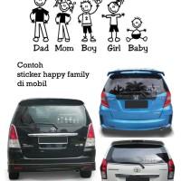 Stiker Happy Family   5 karakter