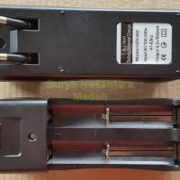 Double / 2 Slot Charger Desktop Baterai 18650