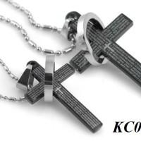KALUNG COUPLE - Black Cross Couple Necklace