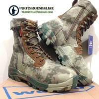 """Sepatu army wellco pro tactical boots 8"""" military outdoor boots"""