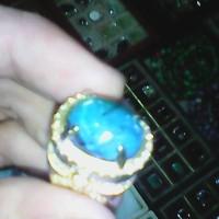 cincin batu bacan doko bermotif ukuran sedang halus