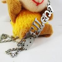 "Kalung ""Ukir Nama"" Motif Hello Kitty + Rhine Stone"