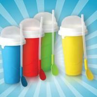 Squeezy Freezy Slushy Ice Maker Minuman Shake Milk Susus Unik Grosir