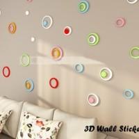 3D Wall Sticker Model Bulat (Hiasan dinding, bahan kayu ringan)