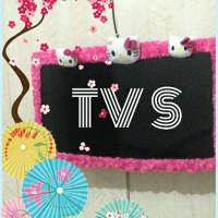 list tv hello kitty,cover tv,bando tv hello kitty,sarung tv