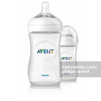 Philips Avent 2 Natural Bottles 260ml with Slow Flow Nipple 1m+