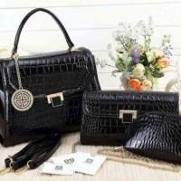 TAS IMPORT WANIT Givenchy Tiara Set Dompet Super AAA 926MC BLACK