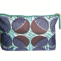 Estee Lauder Pouch Cosmetic Hijau motif ungu cokla