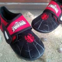 Sepatu anak Spiderman kids shoes hitam merah