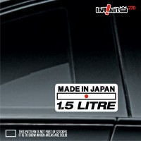 MDP 125 - 2x Made In Japan 1.5L Sticker Toyota Daihatsu Civic Yaris
