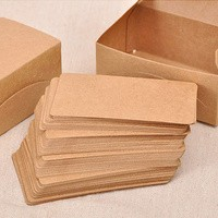 Blank Kraft Paper Card Set / Memo / Notes