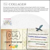 Jual Konjac Sponge Organic O'Life COLLAGEN / Pembersih Pori (KSHB09) Murah