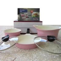 Panci Set Keramik 5pcs (ceramic cookware set)