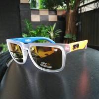 kacamata SPY helm orange biru