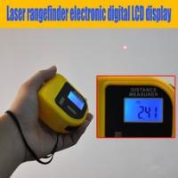 Mini Infrared Ukur Jarak Digital Meter/Feet + ThermoMeter + WaterPass