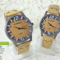 Jam Tangan Pasangan Couple Watch Fashion Modis Keren Fossil
