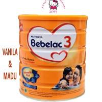 SUSU BAYI NUTRICIA BEBELAC 3 KALENG 800GR RASA VANILA/MADU (1-3 TAHUN)