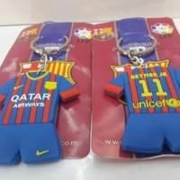 gantungan kunci karet Neymar JR Barcelona import