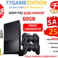 PS2 - Sony Playstation 2 SLIM HARDISK 60GB FULL GAMES + PAKET LENGKAP