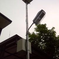 KAP LAMPU PJU SOLAR SEL MINI LENGKAP DG LAMPU DC 12V 5 WATT