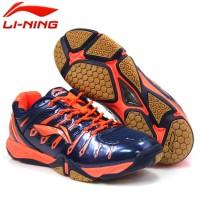 Sepatu Badminton Lining Turbo 1.0 AYTJ091-5 (Black & Orange Series)