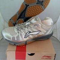 Sepatu Badminton Lining Turbo 1.0 (Silver & White Series)