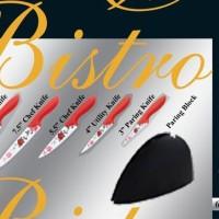 PISAU BISTRO set DECAL BLADE COLOURS HANDLE BO-K13