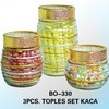 TOPLES SET KACA BISTRO 3pcs BO-330