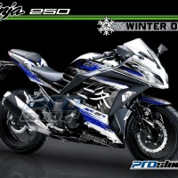 Decal Modifikasi Ninja 250 FI Motif Winter Superbike Logo - PROSTIKER