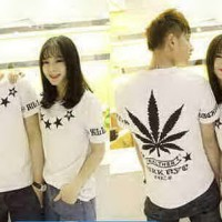 Kaos Couple / Baju Pasangan / Soulmate Star Putih 9525