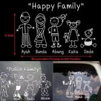 Sticker Happy Family / Sticker Keluarga
