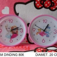harga jam dinding cute pink frozen hello kitty Tokopedia.com