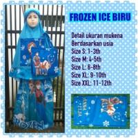 Mukena Frozen Ice Biru size M sarungbalita