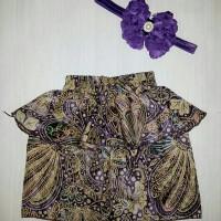 Paket Peplum Skirt & Pearl Headband