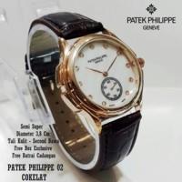 PATEK PHILIPPE CHRONO DETIK AKTIF WARNA COKLAT