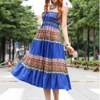harga Batik Long Dress Ds3700 Blue Tokopedia.com