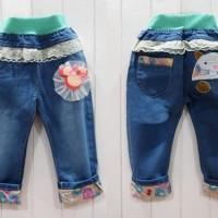 jeans renda minnie