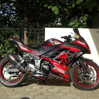 Decal Modifikasi Ninja 250 FI Motif WINTER Merah - PROSTIKER