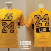 LAL#24 - Kaos game time Los Angeles Lakers #24 KOBE BRYANT christmast