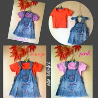 overall jeans hello kitty anak