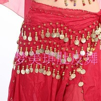Selendang Tari Perut India - Coin Emas