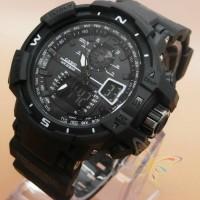 Jam tangan G shock GWA 1100 lis black dop Gshock
