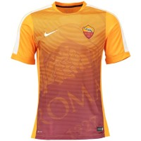 Jersey AS Roma Pre Match Orange 2014 2015 Club Logo