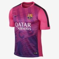 Jersey Barcelona Pre Match Pink 2014 2015 Club Logo
