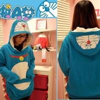 Blazer / Coat / Jacket / Sweater Korea Hoodie Doraemon Blue