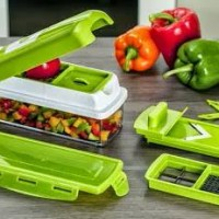 Genius Nicer Dicer Plus Multifungsi Chopper Kitchen Alat Potong Sayur
