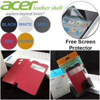 Leather Shell View Leather Flip Book Cover Case Acer Liquid Z4